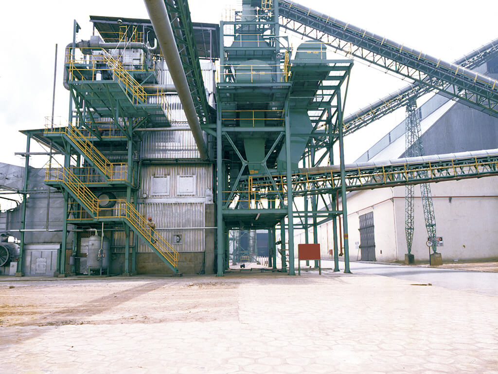 Base para caldeiras (Limeira, SP). Volume de concreto: 150m³. Caldeiras para 35.000 kgf/h.