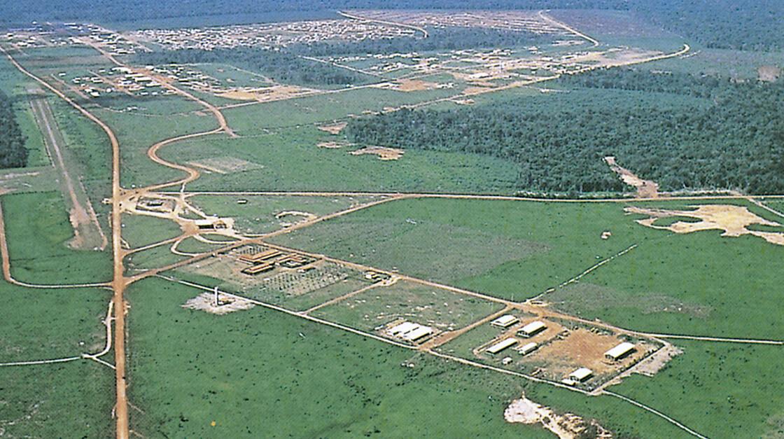 Vista aérea da cidade.